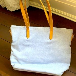 Blue canvas Old Navy cross body tote